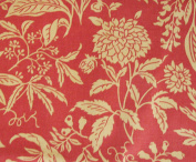 FLORAL BURNT ORANGE TAN Fabric 100% COTTON 1 YARD