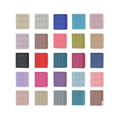 12PCS Assorted Colours Women 4-Hook 4 Rows Spacing Bra Extender Strap