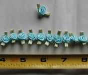 Fabric Satin Ribbon Rose Flower On The Ribbon String , 1cm Width For Each Flower, Sold by One Yard, Around 57 Flowers For One Yard