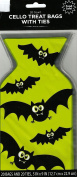 BATS HALLOWEEN CELLOPHANE TREAT BAGS ( 20 BAGS / 1 BAG ) 13cm X 23cm