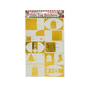 JT Gift Wrapping Metallic Christmas Gift Tag Sticker Set - 24 Pack