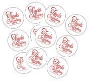 90 Red Thank You For Celebrating 3.8cm Round Party Favour Stickers / Envelope Seals/ Favour Decorations