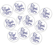 90 Navy Thank You For Celebrating 3.8cm Round Party Favour Stickers / Envelope Seals/ Favour Decorations