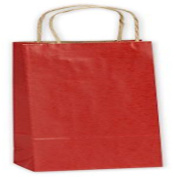 Really Red Single Bottle Shoppers, 5 1/2 x 8.3cm x 32cm