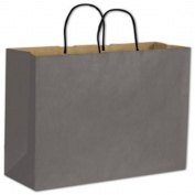 Storm Grey Colour-on-Kraft Shoppers, 16 x 15cm x 32cm