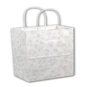 White Les Fleurs Shoppers, 16 x 15cm x 48cm