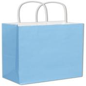 Powder-Blue Cotton Candy Shoppers, 8 1/4 x 11cm x 27cm