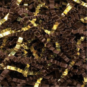 Chocolate/Gold Metallic Crinkle Cut Blend Fill, 18kg Box