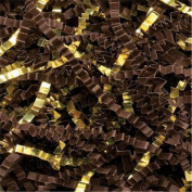 Chocolate/Gold Metallic Crinkle Cut Blend Fill, 18kg Box