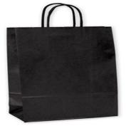 Black-on-Kraft Wine Bags, 6 1/2 x 8.9cm x 33cm