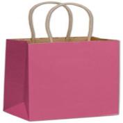 Cerise Colour-on-Kraft Shoppers, 5 1/4 x 8.9cm x 21cm