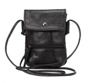 YaJaMa Leather Small Shoulder Crossbody Bag Cellphone Pouch Handbag Purse Wallet