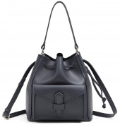Kelly & Sally Women Drawstring Mini Bucket Bag Genuine Leather Shoulder Crossbody Bag HK16175