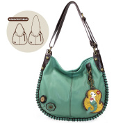 Chala Charming Hobo Crossbody Bag with Mermaid - Teal