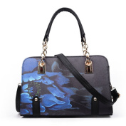 May Lucky Womens Flower Print Handbag Chinese Style Shoulder Bag