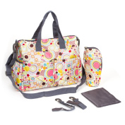 U Like Polka Dot Baby Nappy Tote Bag Set Baby Stroller Bags Shoulder Mummy Bag