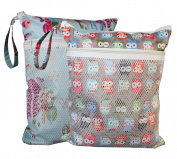 Sleeping Lamb Baby Wet and Dry Cloth Nappy Bag 2 pcs Set