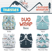 Thirsties Package, Snap Duo Wrap, Outdoor Adventure Collection Birdie Size 1