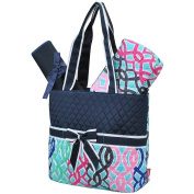 Multi-Colour Vine Print NGIL Quilted 3pc Nappy Bag