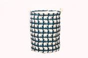 AOBOR Fabric Foldable Round Laundry Basket Hamper Closet Storage Bin Bag