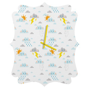 DENY Designs Jennifer Denty Weather Clouds Quatrefoil Clock, Small