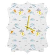 DENY Designs Jennifer Denty Weather Clouds Quatrefoil Clock, Small