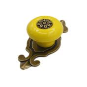 Fangfang 5 pcs Vintage Ceramic Knobs Door Drawer Cabinet Handles Pulls