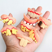 Puraid(TM) Prank Startle Tooth Halloween Scary Crooked Monster Teeth Novelty Toy Children Adult Horror Teeth Practical Jokes Toys FCI#