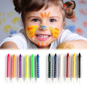 Puraid(TM) Baby Kids 6 Colour Face Body Painting Crayon Kit Set Sticks Party Wedding Kids Child Drawing Toys Gift FCI#