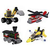 Puraid(TM) Small Particles Blocks Toy Engineering Fire Truck Aircraft Children Educational Toy Self-Locking Bricks FCI#