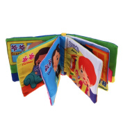 Puraid(TM) Soft Cloth Anti-tear Safe Baby Kid Cloth Books Chinese English Family Member Educational Cloth Books FCI#