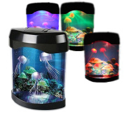 Haolin Fish Tank Night Light Animated LED Artificial Jellyfish Aquarium Lighting Desk Lamp Colour Change USB charge