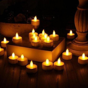 Tuscom 6pc LED Tea Light Candles Realistic Battery-Powered Flameless Candles