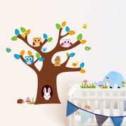 Tree Wall Stickers Owl Wall Decoration Murals Nursery Room Wall Decorations Kids Bed Room Wall Decal