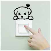 Nurbo Baby Nursery Living Room Wall Stickers Decorations, Light Switch Decor Decals