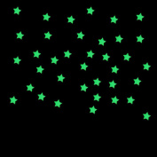 LandFox 100PC Kids Bedroom Fluorescent Glow In The Dark Stars Wall Stickers,Pink