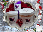 Bakers Holiday Gift Bundle Coffee Cake Body Butter, Caramel Apple Lotion, and Pumpkin Pie Sugar Scrub by SweetBody