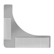 Beard Shaping Tool for Men, Stainless Steel Beard Styling Tool with Comb