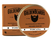 Organic Beard Balm - Toscana - 30ml - 100% | Moisturise your beard and skin, the perfect grooming product, mens beard grooming Golden Beards 100% Organic & Vegan Oils for real beards.Beards Set