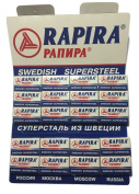 100 Rapira Swedish Super Steel Razor Blades - DELIVERY IN 6 TO 10 DAYS