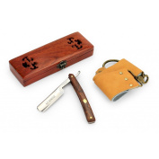 A.P. Donovan - High quality 2.2cm straight razor - mahogany handle - with strop and wax