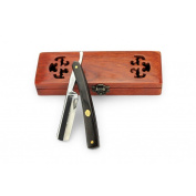 A.P. Donovan - High quality 2.2cm straight razor - black sandal wood handle