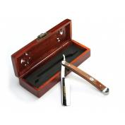 A.P. Donovan - Excellent straight razor 2.2cm cut throat razor - Mahogany