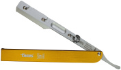 Focus Slim Al Aluminium Interchangeable Blades Straight Razor, Made in Italy, Gold