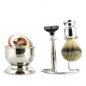 Mach 3 Shaving Set, 4 Piece, Polished Chrome