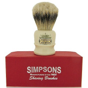 Simpsons Chubby 1 Super Badger Hair Shaving Brush In Imitation Ivory by Simpsons