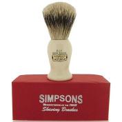 Simpsons Persian Jar PJ1 Super Badger Hair Shaving Brush Small - Imitation Ivory by Simpson