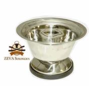 STAINLESS STEEL SHAVING SOAP BOWL FROM ZEVA