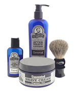 Colonel Conk Model 4014 Unscented 4pc Shave Kit with Brush