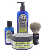 Colonel Conk Model 4012 Southwestern Sun 4pc Shave Kit with Brush